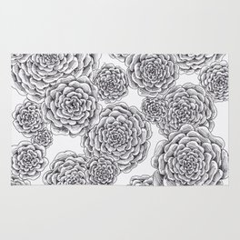 """flowers or """"pinecones from top"""" hand drawn Rug"""