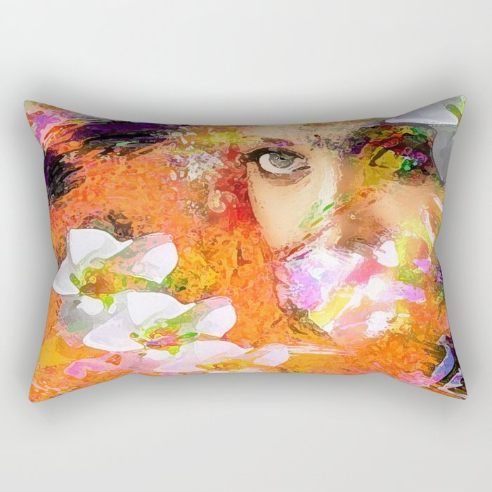 """"""" The queen of flowers """" Rectangular Pillow"""
