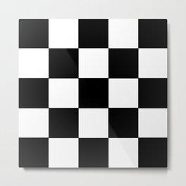 Grid domino bank and black Metal Print