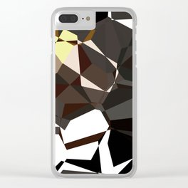 Geometic Greys Clear iPhone Case