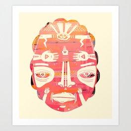 Cloud Face I Art Print