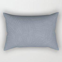 Light Slate Gray Marks Rectangular Pillow