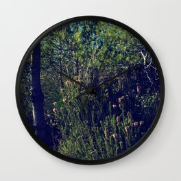 Summer in the forest Wall Clock