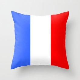 Drapeau français Throw Pillow