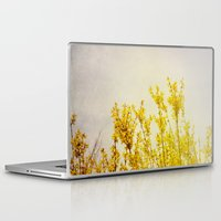 coldplay Laptop & iPad Skins featuring And it Was All Yellow by Olivia Joy StClaire