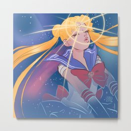 Sailor Moon Transformation 2 Metal Print