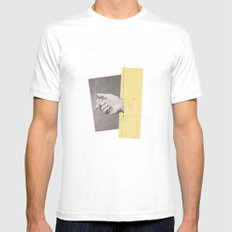 Cigarettes & Cigarettes White Mens Fitted Tee LARGE