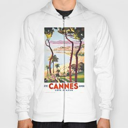 1938 France Cannes Cote D'Azur Travel Poster Hoody