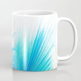 Solar Summer Fan Palms - Blue and Aqua Coffee Mug