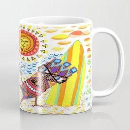 mid century modern Hawaiian tiki toast pattern Coffee Mug