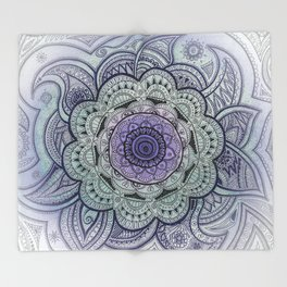 Mandala Violet Throw Blanket