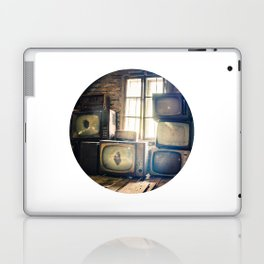 Old televisions in a dusty attic Laptop & iPad Skin