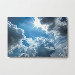 Bright and sunny London sky Metal Print