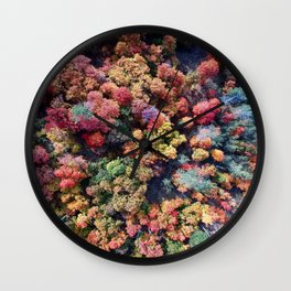 FOREST - AUTUMN - COLORS - PHOTOGRAPHY - NATURE Wall Clock