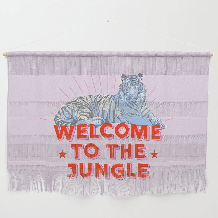 welcome to the jungle - retro tiger Wall Hanging