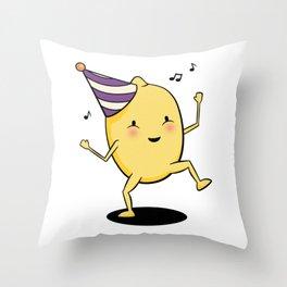 Lemon Party Throw Pillow