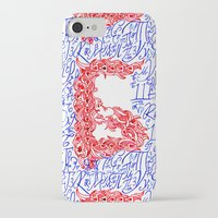 letters iPhone & iPod Cases featuring Letters by Olya Goloveshkina