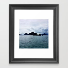 Rain is Coming Framed Art Print