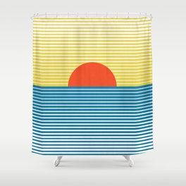 Abstract landscape XIX Shower Curtain