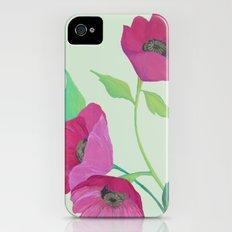 Pink Poppies Slim Case iPhone (4, 4s)