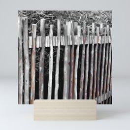 Primitive Stick Fence Mini Art Print