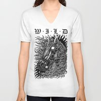 occult V-neck T-shirts featuring Occult horse by Iria Alcojor