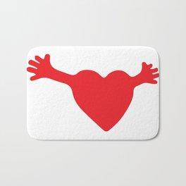 Heart and Hands Bath Mat