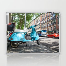 Vintage scooter on street Laptop & iPad Skin