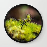 moss Wall Clocks featuring Moss. by Michelle McConnell