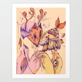 Love On Empty Stomachs Art Print