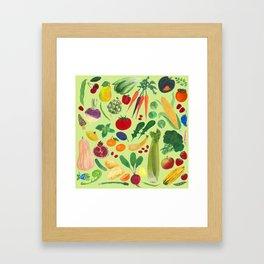 Fruits and Veggies Framed Art Print