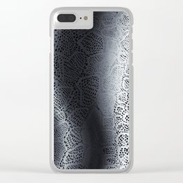 Gray Snake Skin Clear iPhone Case