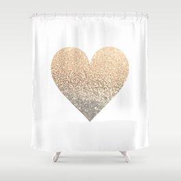 GOLD HEART Shower Curtain