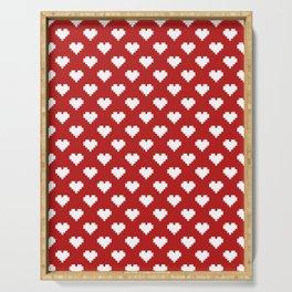 Valentine's Day Pattern Serving Tray