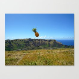 Flying Pineapple Canvas Print