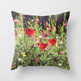 A floral spot on Earth Throw Pillow