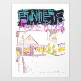 """""""Rosemont"""" / Frontier Ruckus Song Illustrations, Series 1 (15/15) Art Print"""
