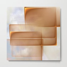 Abstract layers of reality Metal Print