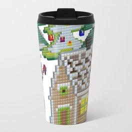 3D pixel art New Year Travel Mug