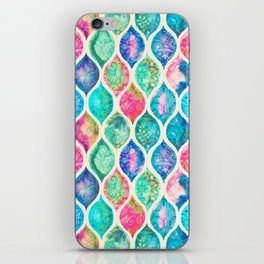 Watercolor Ogee Patchwork Pattern iPhone Skin