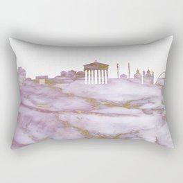 Athens Skyline Greece Rectangular Pillow