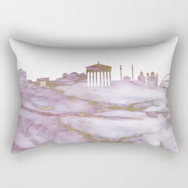 Athens Skyline Greece Rectangular Pillow