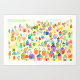 Village of Thousand House Art Print