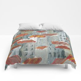 toits rouges Comforters