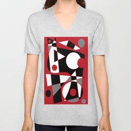 Abstract #185 Unisex V-Neck