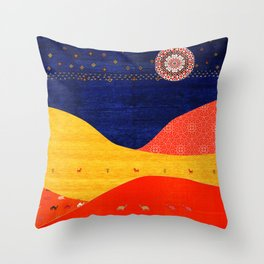 N88 - Collage Art, Boho Morocco by Arteresting Throw Pillow