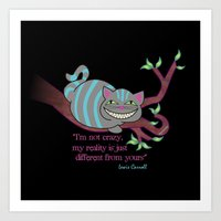 cheshire cat Art Prints featuring Cheshire cat by Pendientera
