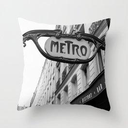 Paris Metro IV Throw Pillow