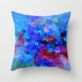Abstract Seascape Painting Throw Pillow