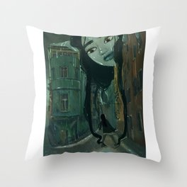 A Rainy Menagerie  Throw Pillow